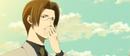 Yashiro sliding his glasses up