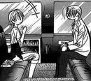 Yashiro and kyoko inside the limo