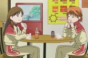 Miya and kyoko talking