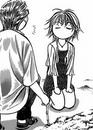 Kyoko looks at corn sheepisly