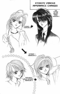 Kyoko's appearance versions