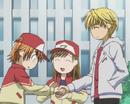 Kyoko, miya and sho hold hands