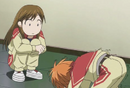 Miya watches devastaded kyoko