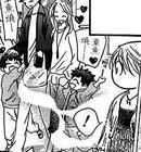 Kyoko looks at a happy family