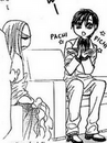 Kyoko and Ren clapping his hands