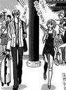 Yashiro-san and kyoko walking together
