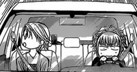Kyoko and Jelly in the car