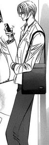 Yashiro-san looking at his phone