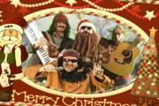 Skippy Shorts Clawverbro Christmas Card