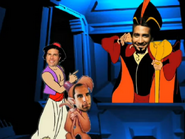 Aladdin, Oop-Oop and Jafar