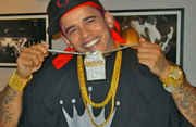 Skippy Shorts Obama Gangster