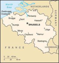 Belgia kort