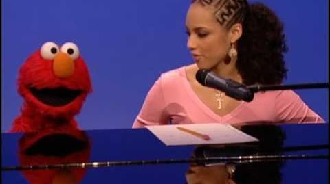 Alicia Keys with Elmo on Sesame Street - Dancin' (Fallin')