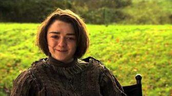 Game of Thrones Roast Joffrey - Maisie Williams Impersonates Joffrey (HBO)
