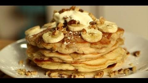 Pancakes 3 Ways Banana Walnut, Chocolate Chip, and Blueberry Ricotta