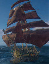 Skull and Bones - Black Horn Brigantine ship