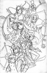 Skullgirls Elenco Principal Arte alternativo
