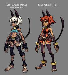 Ms. Fortune Diseño Comparación Antiguo y Actual