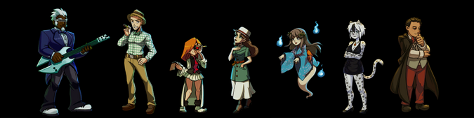 Casino de River King Personajes No Jugables Conjunto 1
