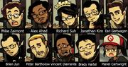 Miembros de Lab Zero Games en la intro de Beowulf