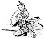 Filia agachada con una cuchilla Arte Conceptual