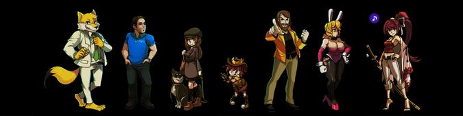 Casino de River King Personajes No Jugables Conjunto 2