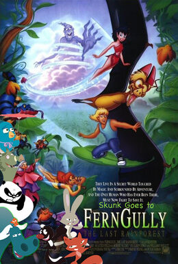 Skunk Goes to Ferngully the Last Rainforest Posterpsd