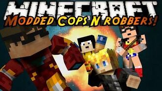 Minecraft Mini-Game MODDED COPS N ROBBERS! SUPERHEROES!