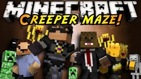 Minecraft Mini-Game INFINITE CREEPER MAZE!