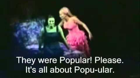 (Wicked) - Popular Lyrics (Live)