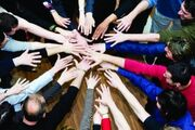 Istock business team hands group (300 x 200) teambuilding