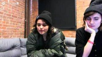 Sky Ferreira G Hangout on Air Q&A - Amoeba Takeover