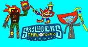 Skylanders triple fighters poster