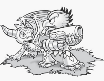 Gill Grunt coloring page from Skylanders SuperChargers video game ... | 266x340