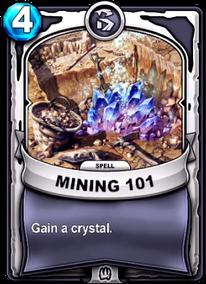 Mining 101card