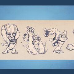 Conceptos de los ataques de Donkey Kong.