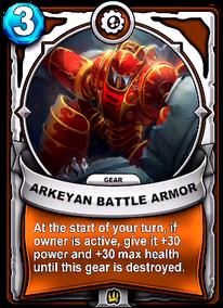 Arkeyan Battle Armor - Gearcard
