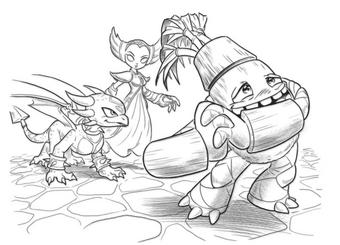 Skylanders Swap Force Magic Super Gulp Pop Fizz Coloring Page | H ... | 245x340