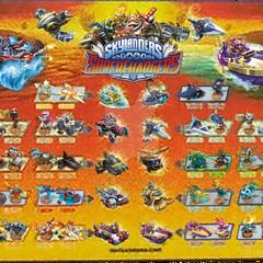 Poster con todos los SuperChargers y vehículos salvo las estrellas invitadas