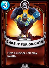 Take It For Granitecard