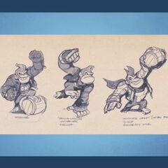 Vestimentas descartadas de Donkey Kong.