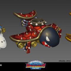 Ilustraciones del Clown Cruiser con diferentes modificaciones