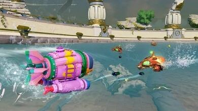 OFFICIAL Skylanders SuperChargers Action Clips Spring Ahead Dive Bomber