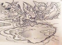 Spyro y Stealth Elf