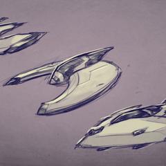 Bocetos preliminares del diseño del Sun Runner
