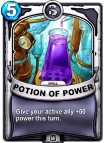Potion of Powercard