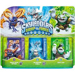 Zoo Lou en triple paquete junto con Mega Ram Spyro y Blizzard Chill