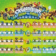 Poster con todas las figuras del juego