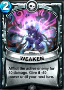 Weaken Animated Card