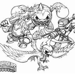 Dibujo de los skylanders de fuego de Spyro`s Adventure